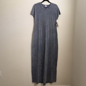 NWT LuLaRoe Maria Maxi Dress Size Small 6-8 Denim